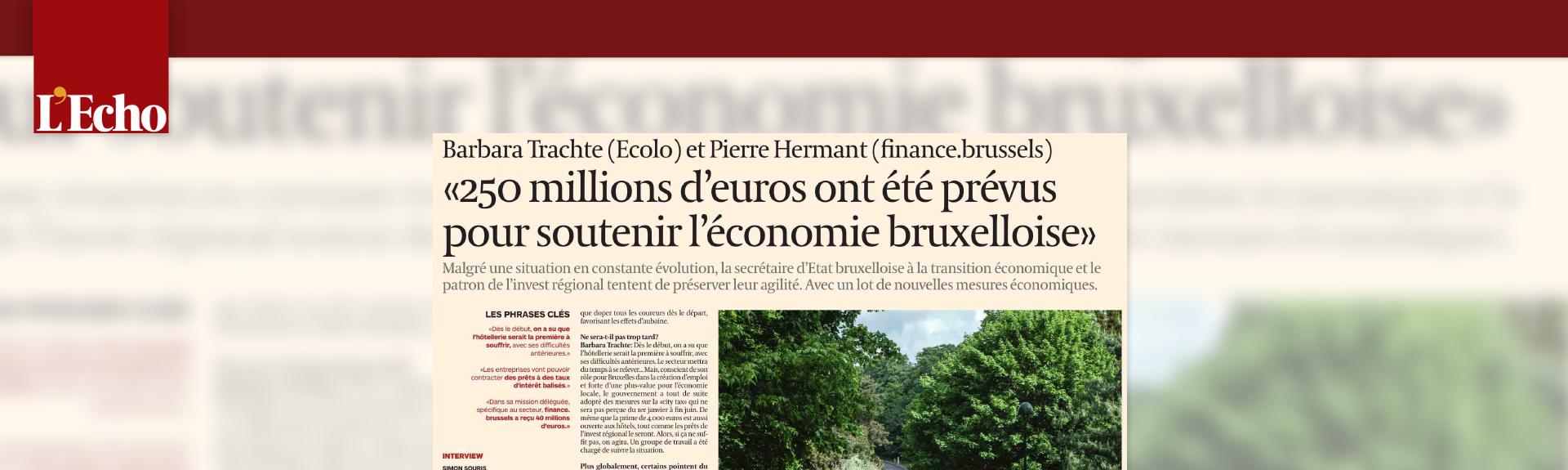 250 millions d'euros ont été prévus pour soutenir l'économie bruxelloise