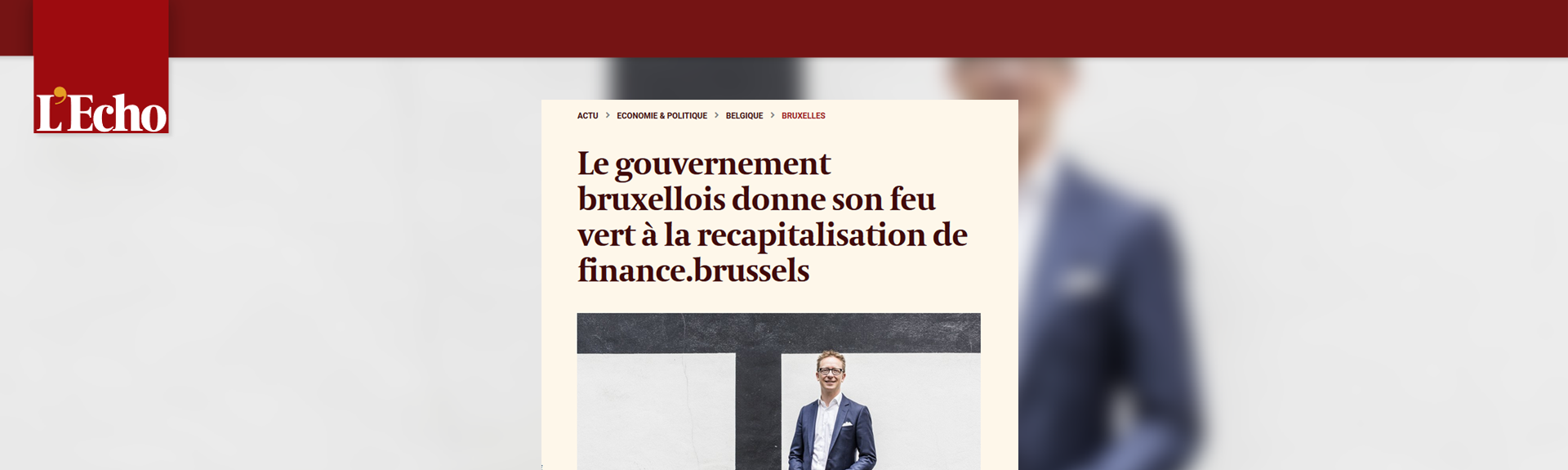 Le gouvernement bruxellois donne son feu vert à la recapitalisation de finance&invest.brussels