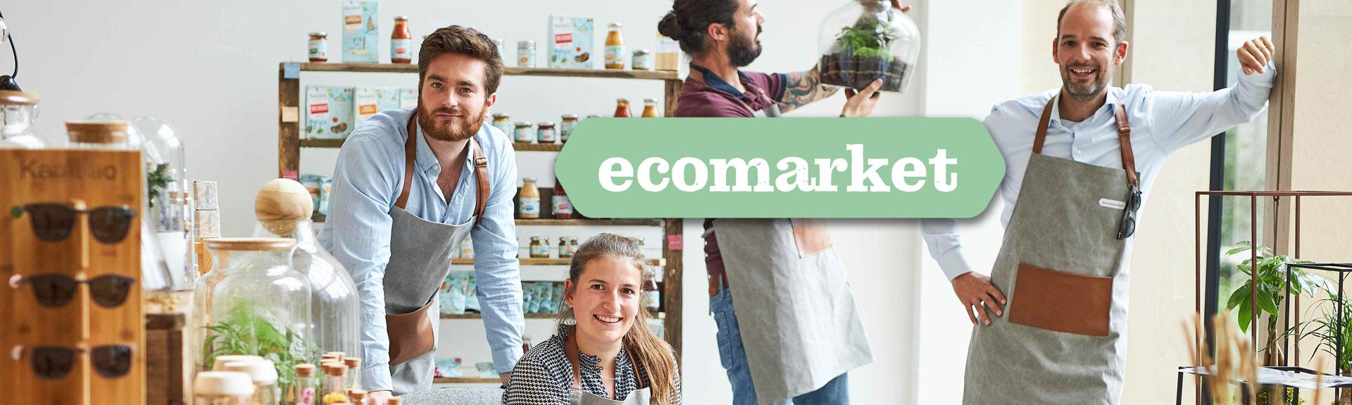 Dankzij de financiering van finance&invest.brussels, kan Ecomarket, het ecocheques paradijs, zijn activiteiten uitbreiden